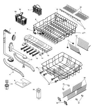 kenmore ultra wash dishwasher model 665 parts diagram