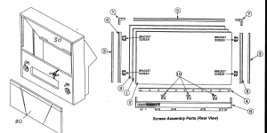MITSUBISHI PROJECTION TV Parts | Model WS55413 | Sears