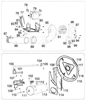 MOTORHEATER Diagram & Parts List for Model rdg350aw Haier