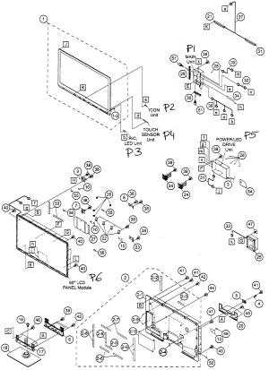 SHARP LED TELEVISION Parts | Model LC60LE810UN | Sears PartsDirect