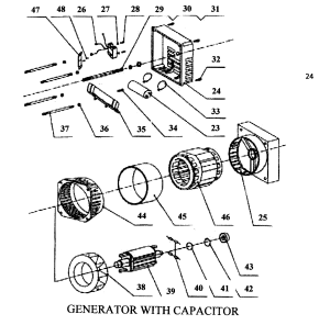 GENERATOR 2 Diagram & Parts List for Model apg3005 All