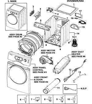 SAMSUNG DRYER Parts   Model dv328aerxaa   Sears PartsDirect