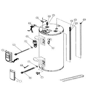 WHIRLPOOL WATER HEATER Parts | Model es40r9245d | Sears