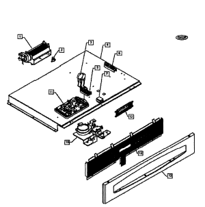 CONTOL PANEL Diagram & Parts List for Model