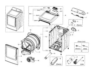 SAMSUNG DRYER Parts   Model DV45H7000EWA20000   Sears