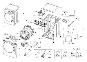 SAMSUNG DRYER Parts   Model DV42H5000EWA30000   Sears