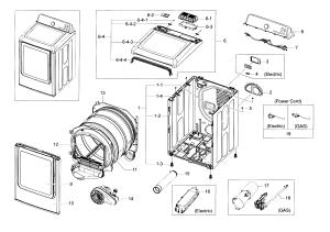 SAMSUNG DRYER Parts   Model dv48j7700ewa20000   Sears PartsDirect