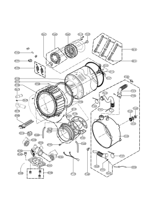DRUM AND TUB ASSEMBLY PARTS Diagram & Parts List for Model