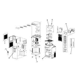GE Room Air Conditioner Room air conditioner Parts | Model
