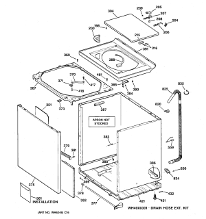 CABINET, COVER & FRONT PANEL Diagram & Parts List for