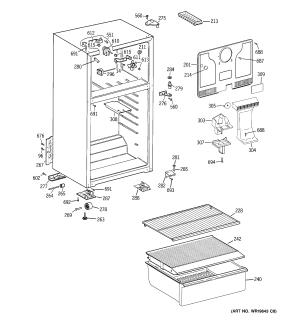 CABINET Diagram & Parts List for Model htr16absdlww