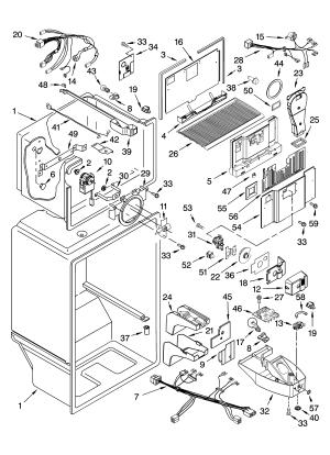 LINER PARTS Diagram & Parts List for Model 10642102301