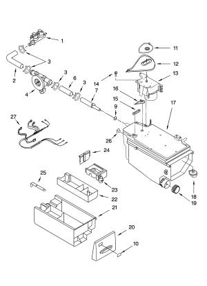 DISPENSER PARTS Diagram & Parts List for Model 11045088401