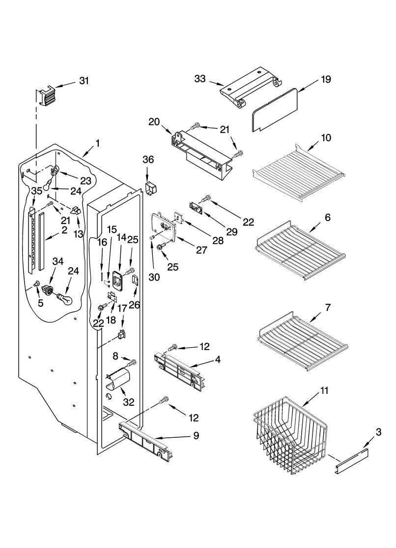 Kenmore Elite Refrigerator Parts Diagram | Reviewmotors.co on