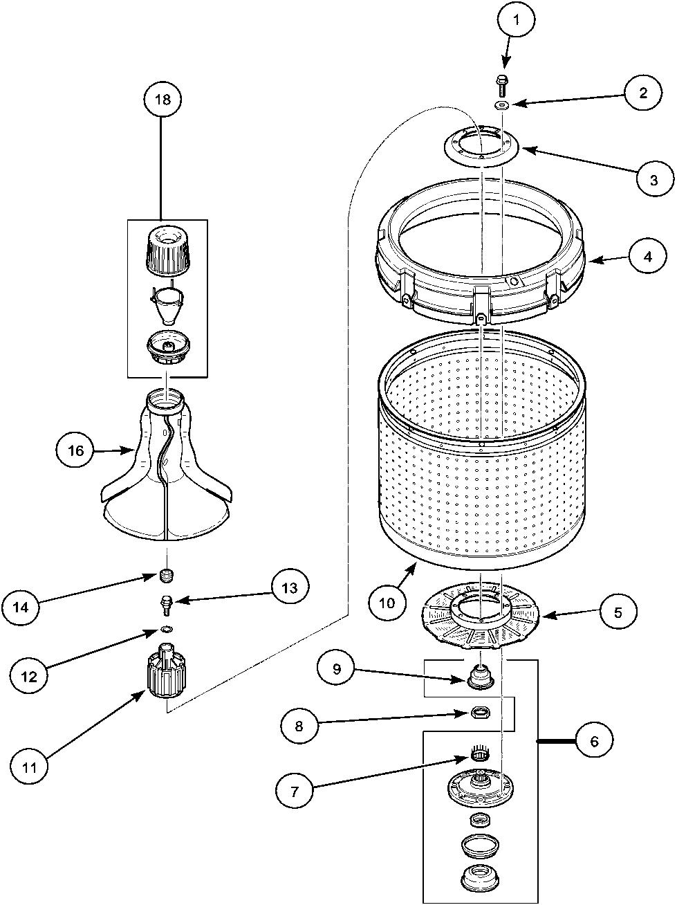 Amana model lwa40aw2 plwa40aw2 residential washers genuine parts rh searspartsdirect washing machine parts diagram amana washer wiring diagram