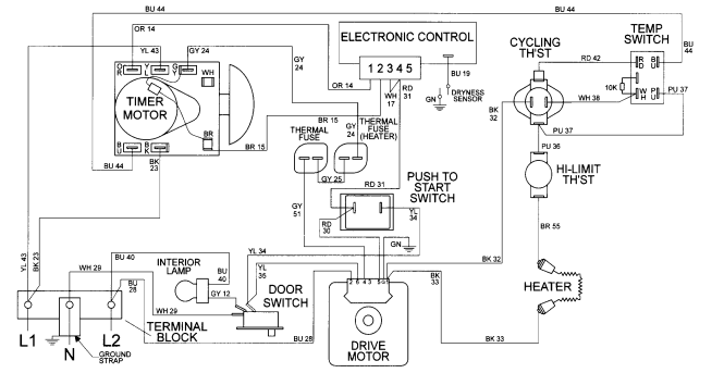 dryer wiring diagram schematic wiring diagram frigidaire dryer wiring diagram images