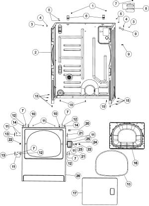 MAYTAG MAYTAG LAUNDRY Parts   Model MDE3757AYW   Sears