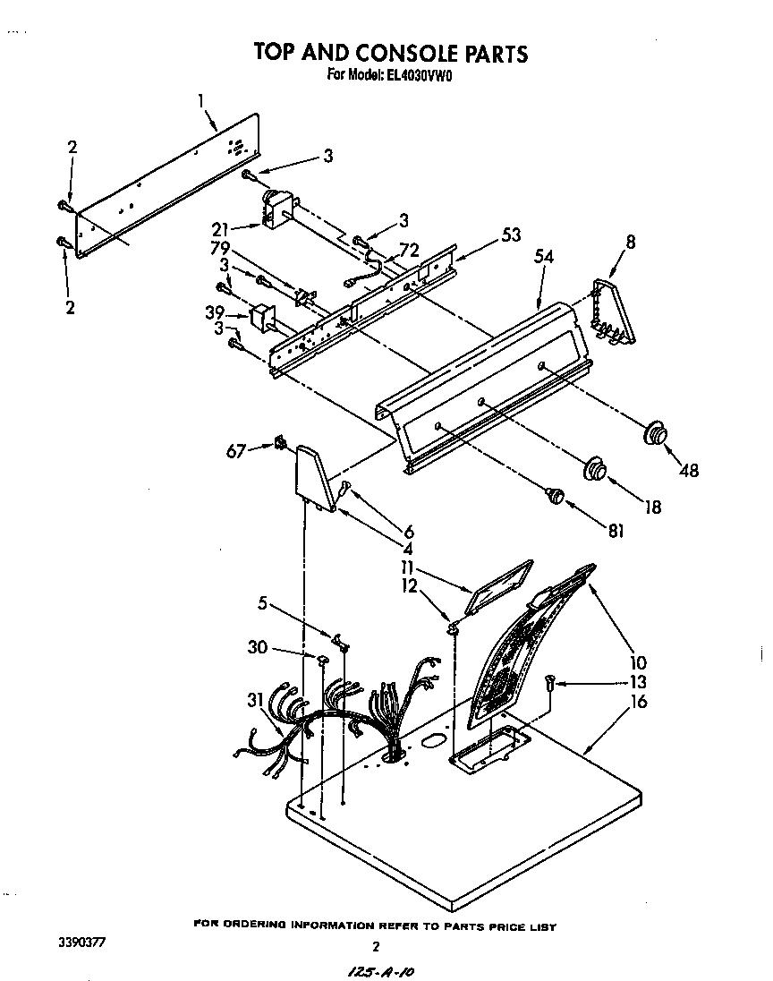 Roper model el4030vw0 residential dryer genuine parts