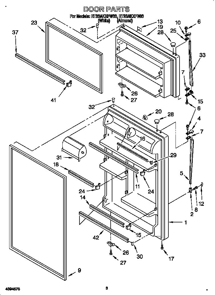 Whirlpool Refrigerator Spare Parts List