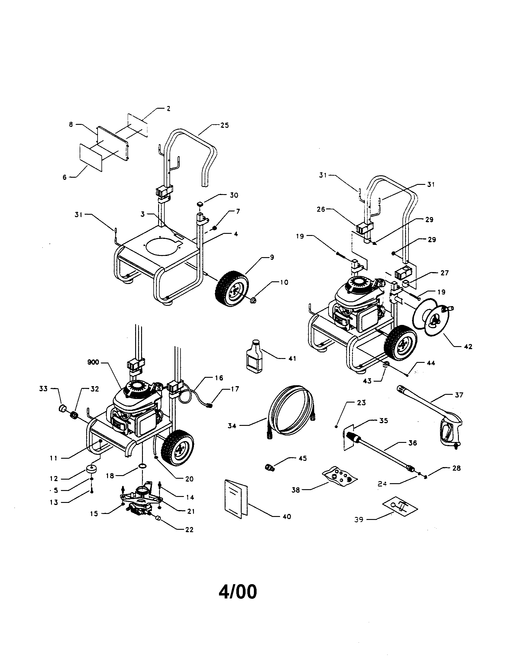 Craftsman model 580768341 power washer gas genuine parts p0040235 00001 1505200html honda 5 5 engine parts diagram honda 5 5 engine parts diagram