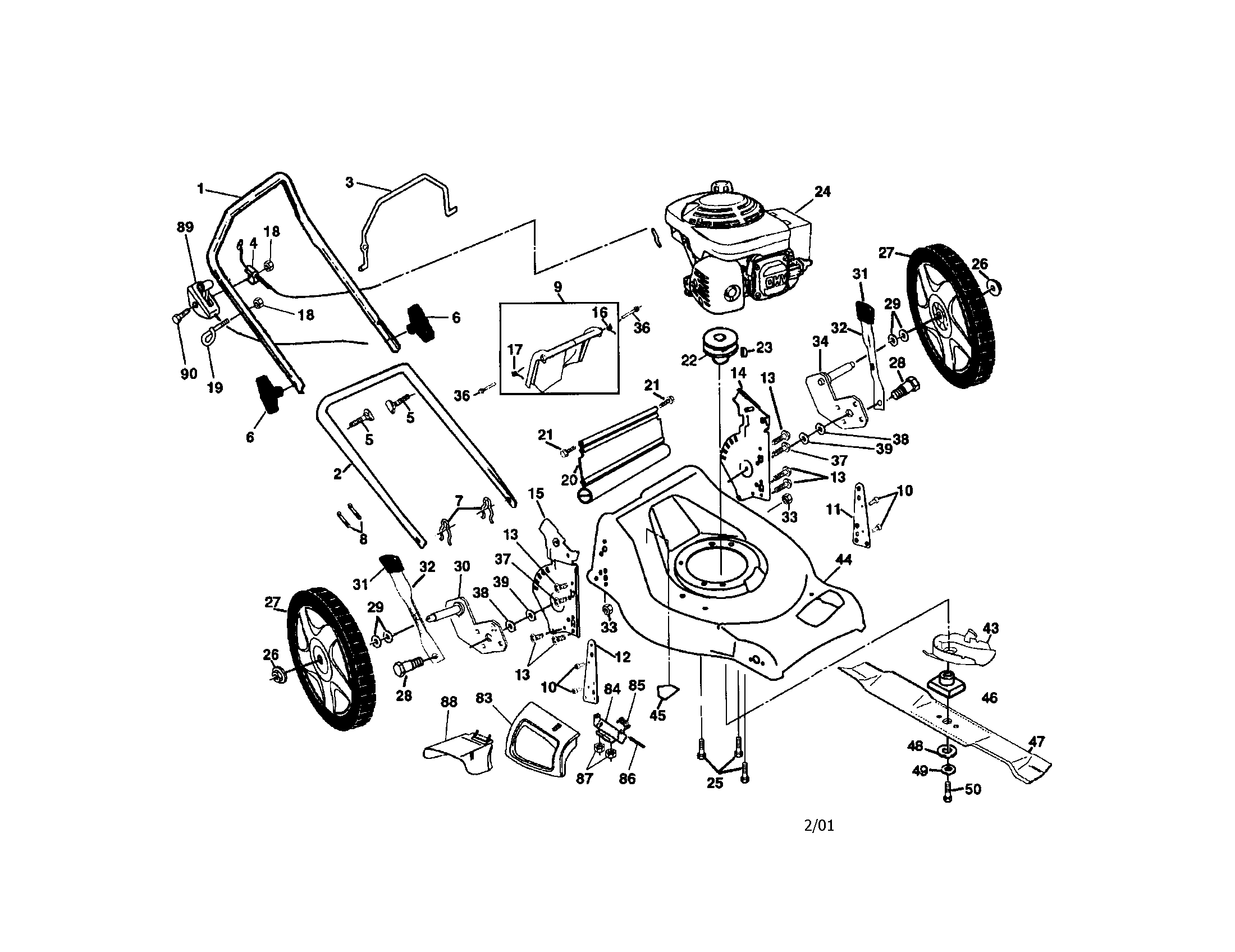 Engine wiring ignition switch wiring diagram honda diagrams poulan rotary mower parts model pr55hy21ca sears partsdirect