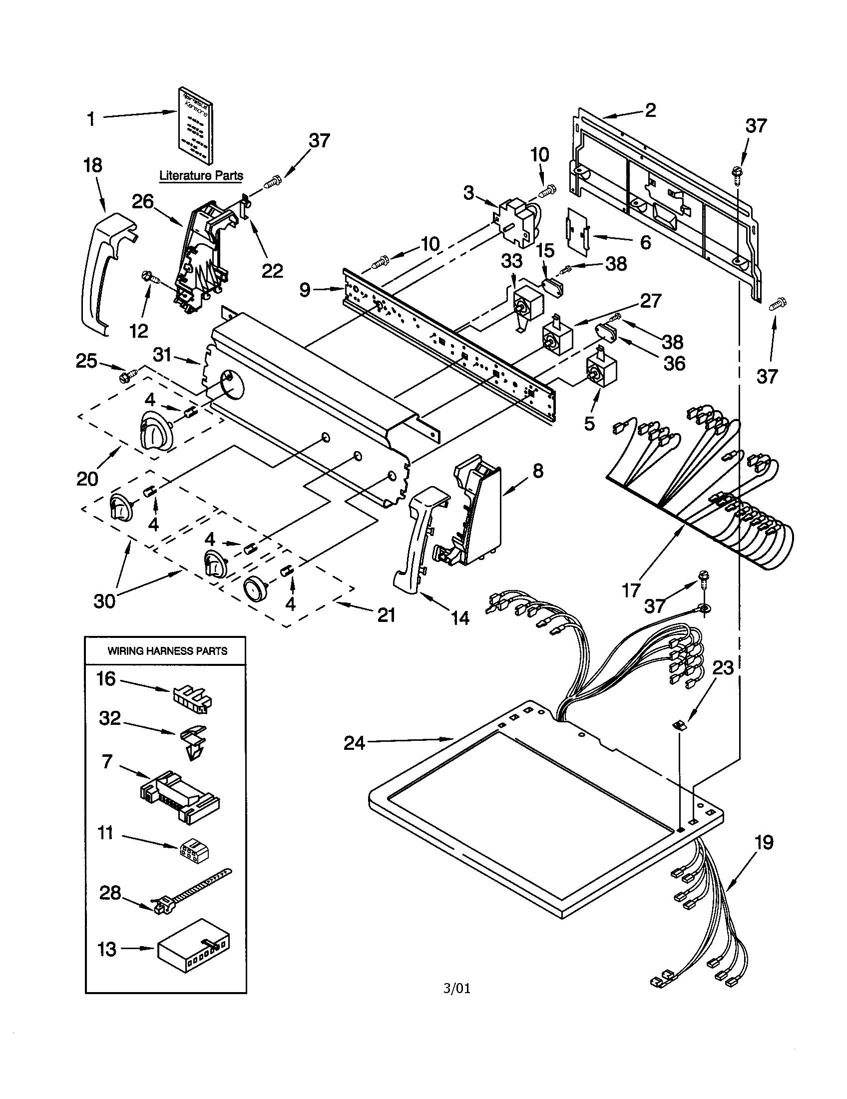 kenmore dryer parts. p0103156 00001?resize\u003d665%2c863 wiring diagram for sears dryers kenmore dryer parts
