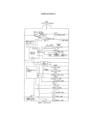 WIRING SCHEMATIC Diagram & Parts List for Model 25351622101 KenmoreParts RefrigeratorParts