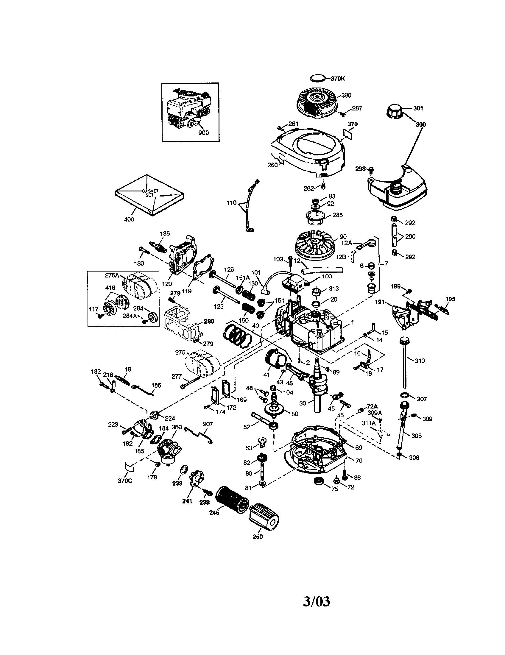 Craftsman tecumseh engine parts model 143034504 sears partsdirect