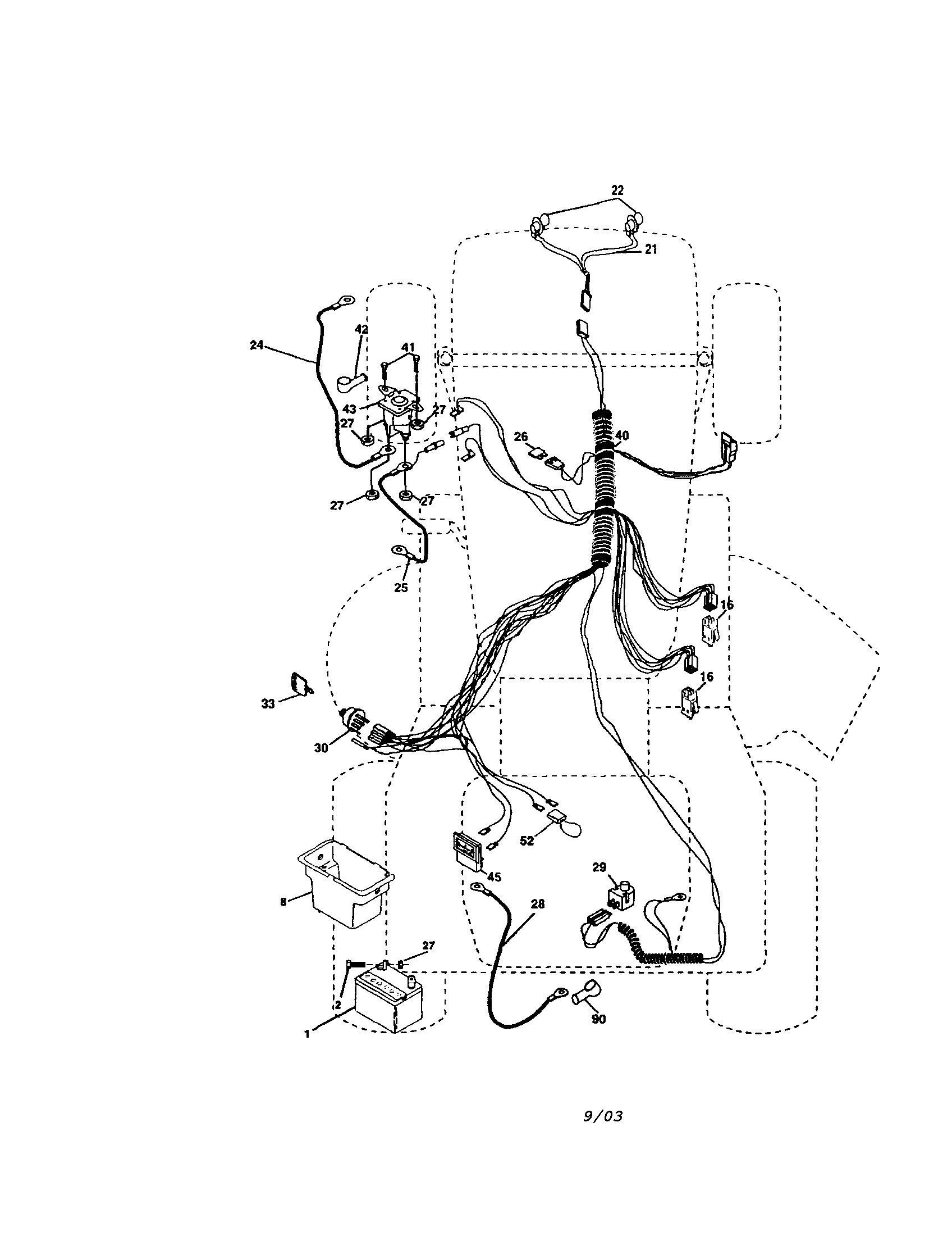 Craftsman lawn tractor wiring diagram mtd lawn mower wiring