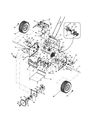 FRAMECHAINWHEELSDRIVE PULLEY Diagram & Parts List for