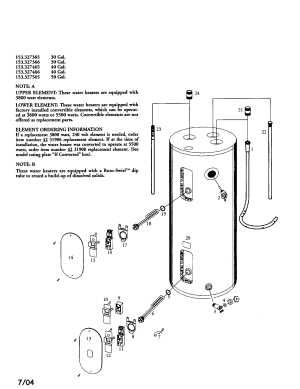 KENMORE ELECTRIC WATER HEATER Parts | Model 153327466