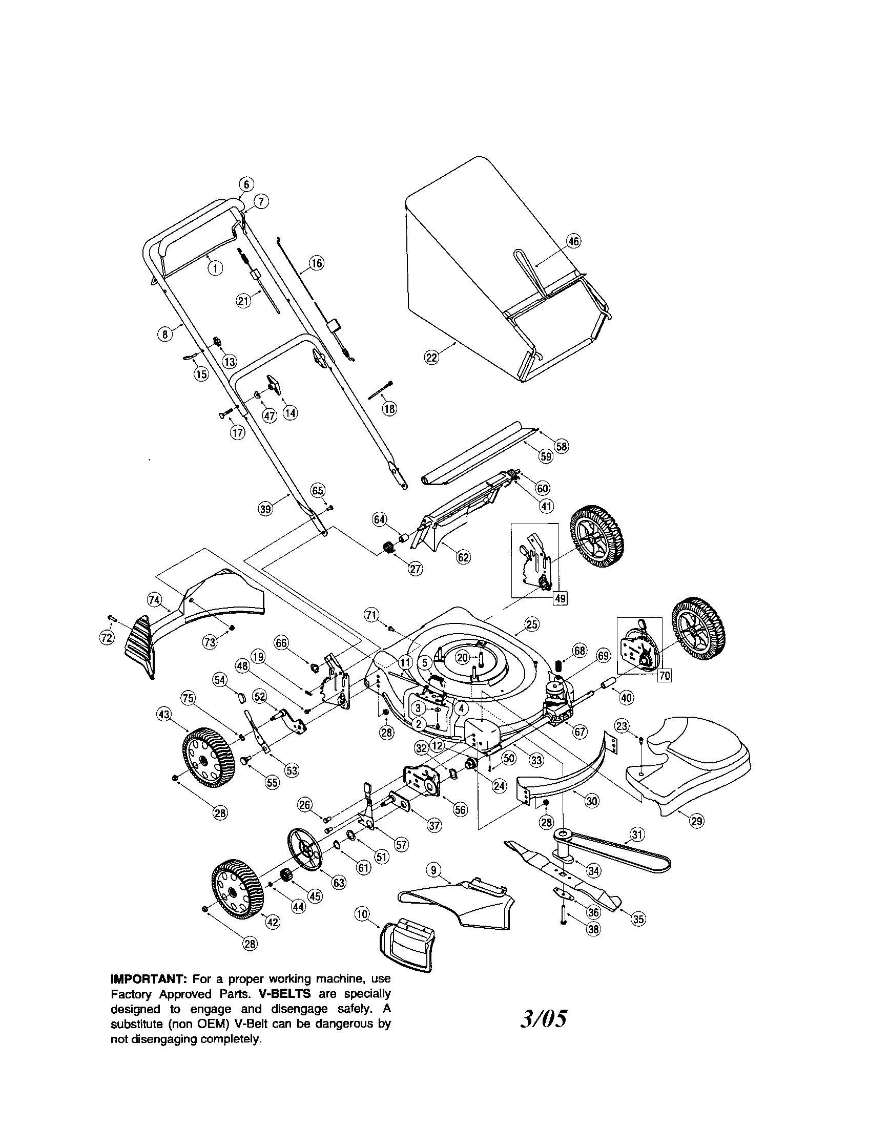 Troybilt lawn mower parts model 12a466a711 sears partsdirect