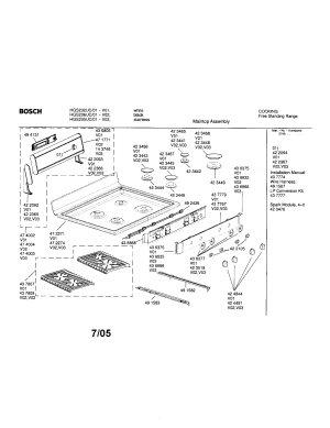 BOSCH FREESTANDING RANGE Parts | Model HGS235UC01 | Sears