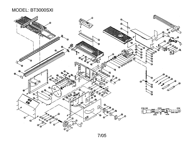 dewalt table saw parts diagram