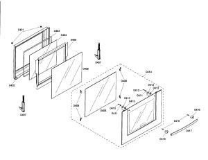 DOOR Diagram & Parts List for Model hbl3350uc01 Bosch