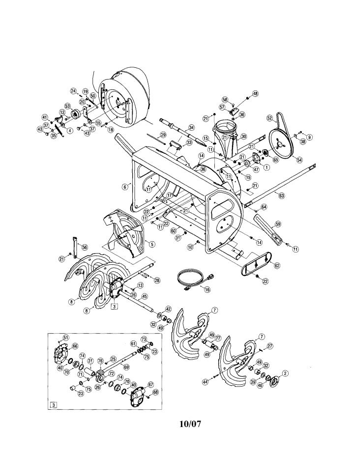 Model 24788033   CRAFTSMAN SNOW THROWER Parts
