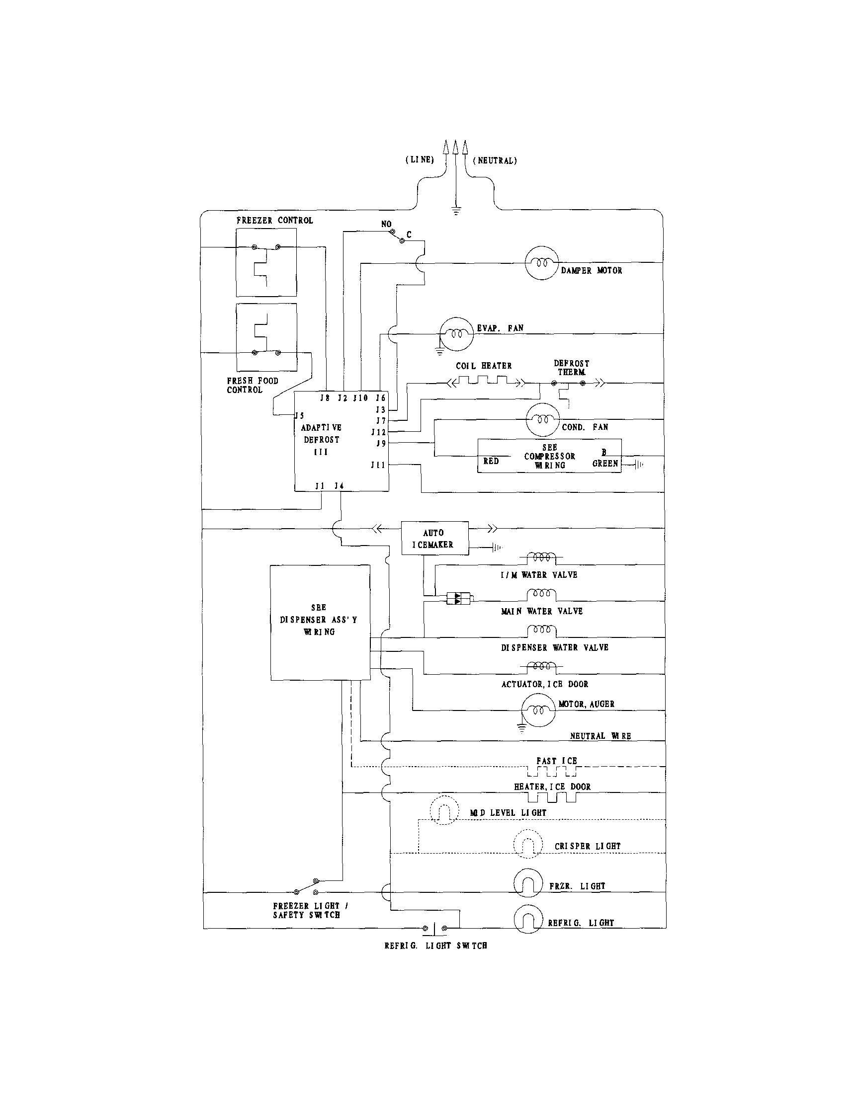 Sears kenmore refrigerator wiring diagram get free image 1000x1288