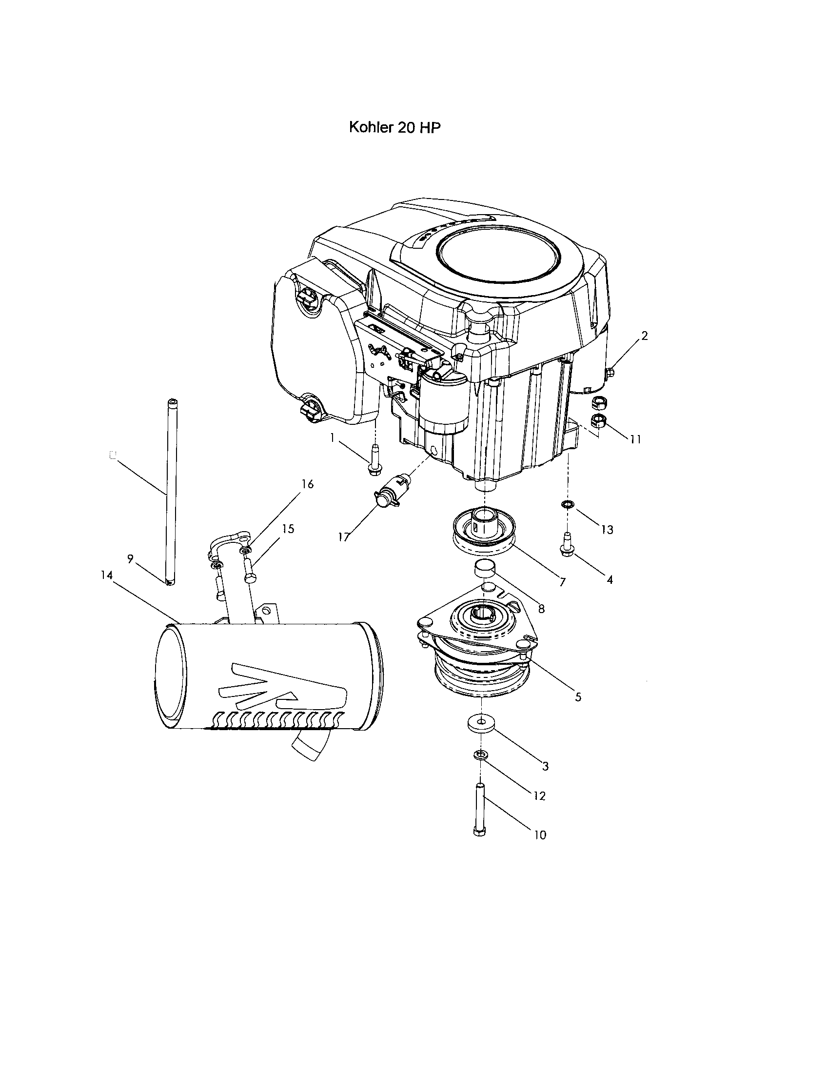 Kohler motor parts diagram images