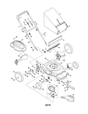 MTD LAWN MOWER Parts   Model 54m7   Sears PartsDirect