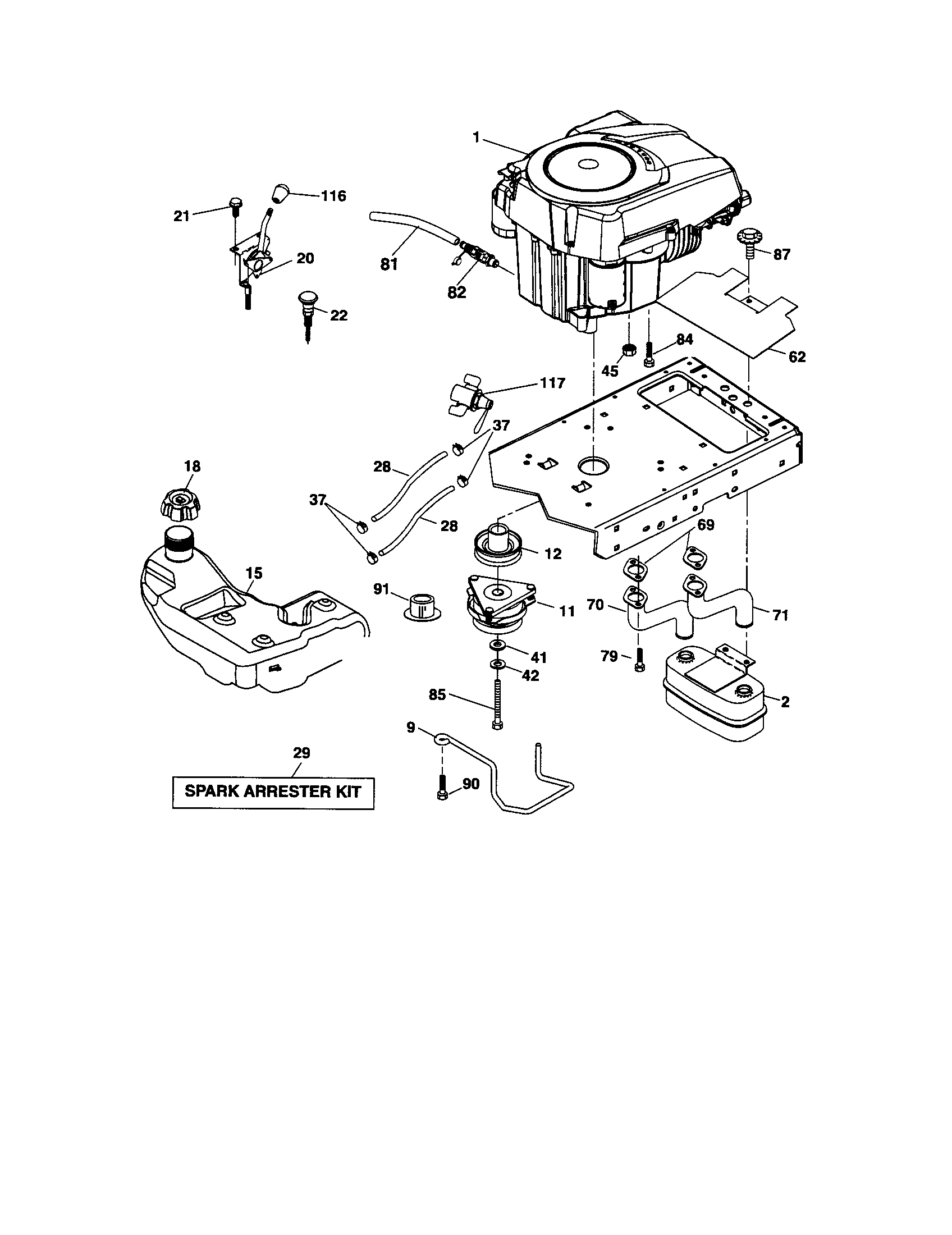 Craftsman model 917289472 lawn tractor genuine parts scott's lawn service scotts l2548 wiring diagram