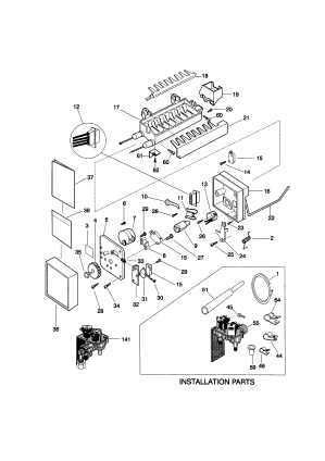 ICE MAKER Diagram & Parts List for Model 25358082893