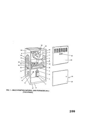YORK FURNACE Parts | Model P1DUB12N08001 | Sears PartsDirect