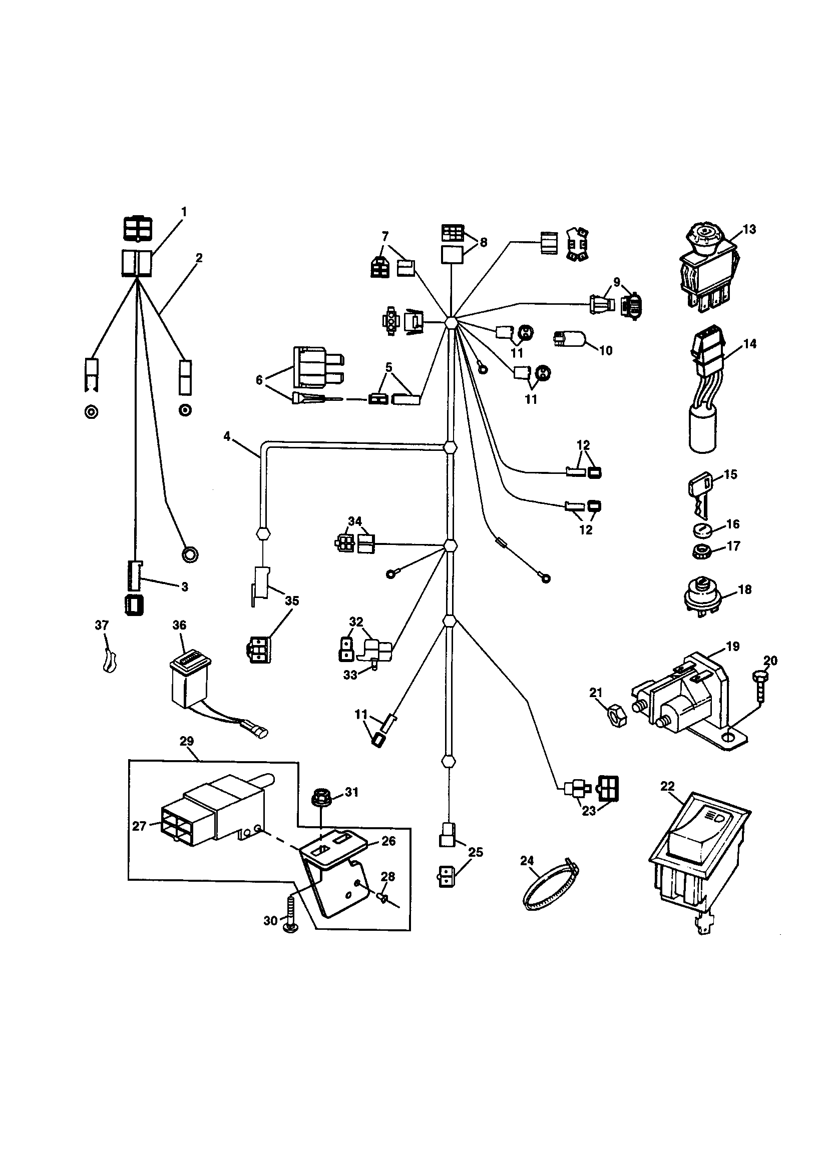 Scotts S1742 Wiring Diagram Schematics Riding Mower Model 1742g Electrical Lawn Parts Lookup 1742
