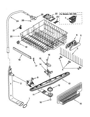 Kenmore Dishwasher Top Rack Parts  Racks Blog Ideas