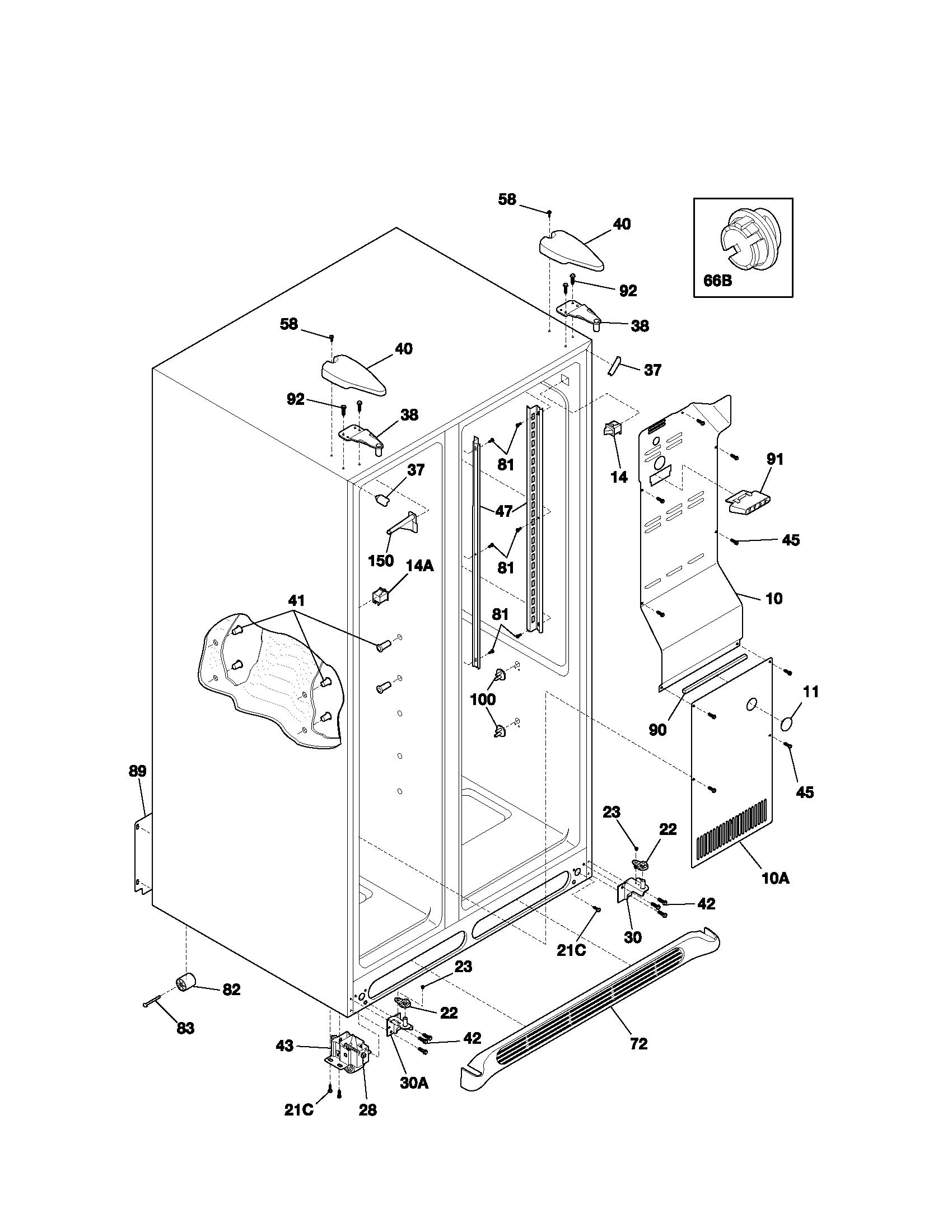 Kenmore refrigerator refrigerator door parts model 25353322300