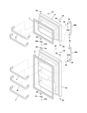 FRIGIDAIRE REFRIGERATOR Parts | Model FRT18B1BW0 | Sears