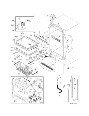 KENMORE ELITE Freezer Cabi Parts   Model 25344733102