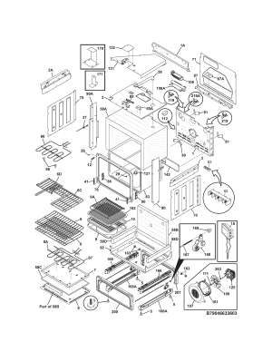 BODY Diagram & Parts List for Model 79046633603 Kenmore