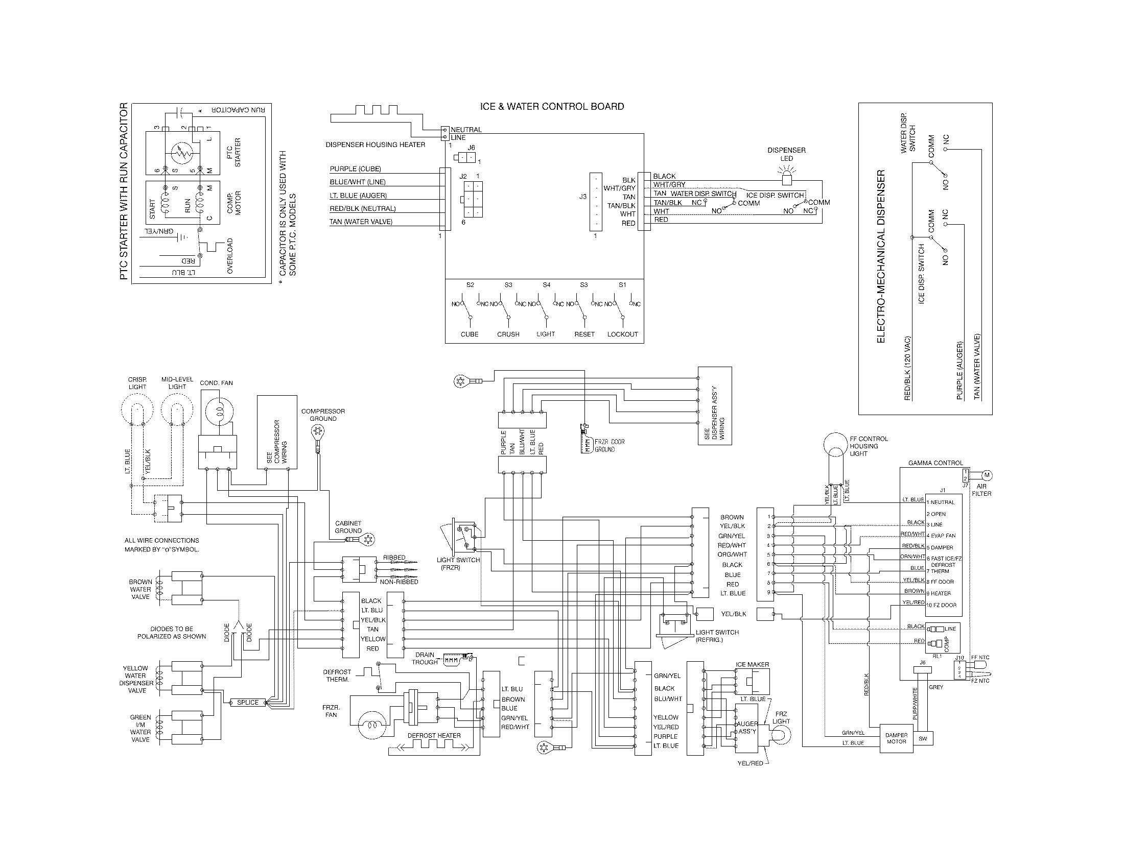 Wiring Diagram For Frigidaire Dishwasher Model Lfbd2409lwob - Block ...