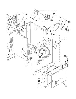CABINET PARTS Diagram & Parts List for Model ned4500vq0